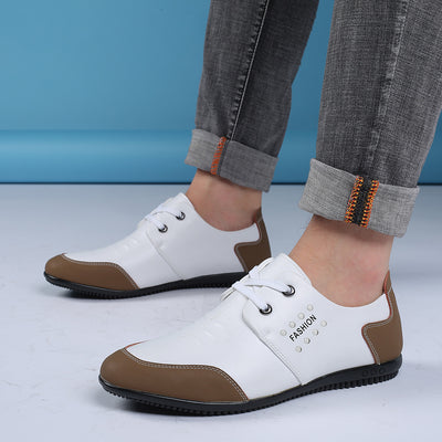 Men Casual Shoes Loafers Patchwork