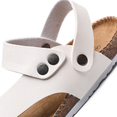 Men Women Cork Toe Flip Flop Flat Sandals