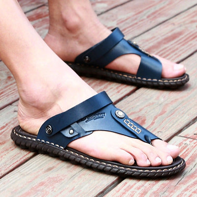 Men Genuine Leather Sandals