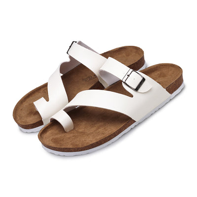 Men Women Cork Toe Ring Sandals