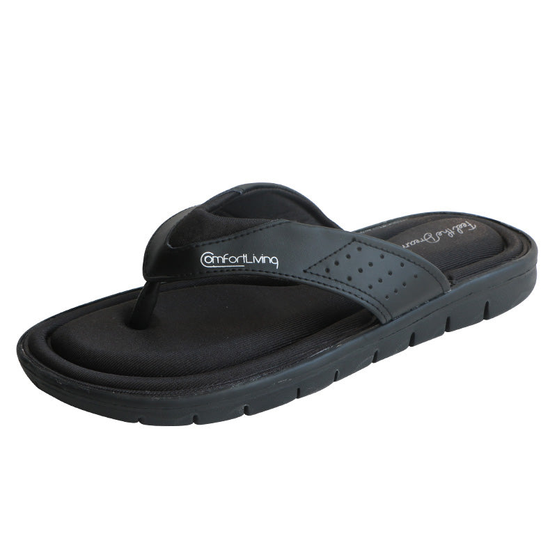 Men's Flip Flops Black Memory Foam Summer Sandals 2020 New