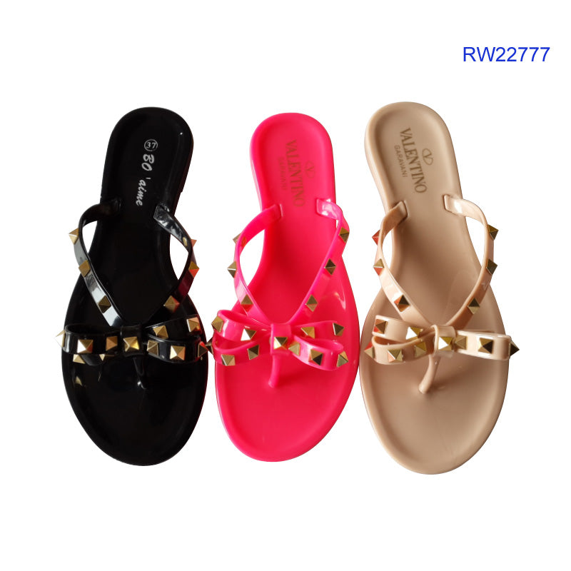 Jelly Sandals Lady PVC Slippers Plastic Sandals For Women RW22777