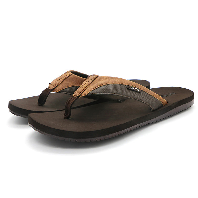 Men's Flip Flops Thong Leather Sandals Non-Slip Sandals 2020 New Arrival