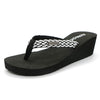 Women's Flip Flops Platform Wedge Weaving Sling 2020 Summer Sandals