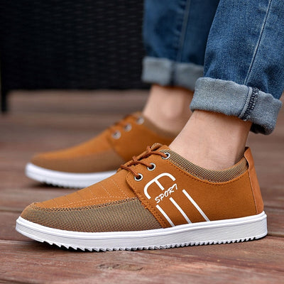 Men Breathable Canvas Shoes Casual Trainers 2020