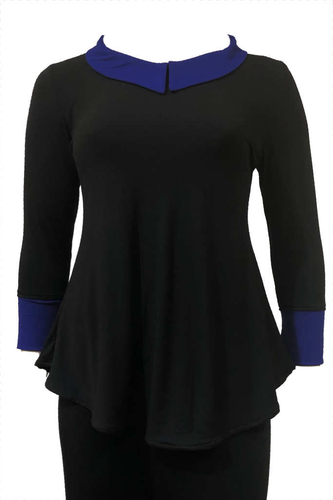 black plus size top