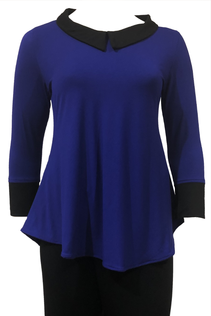 blue plus size top