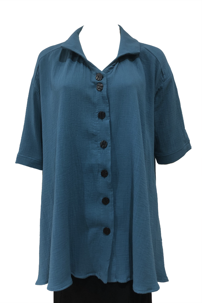 Teal plus size shirt