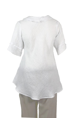 Bella top White Crinkle Linen