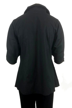 Serpent shirt: Black linen