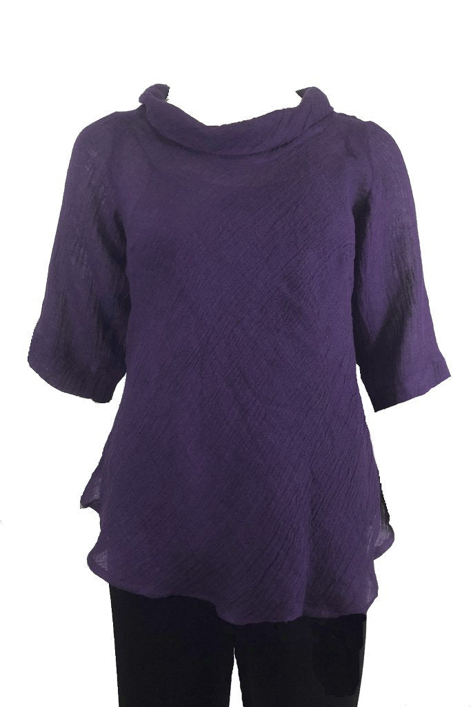 Plus size purple top