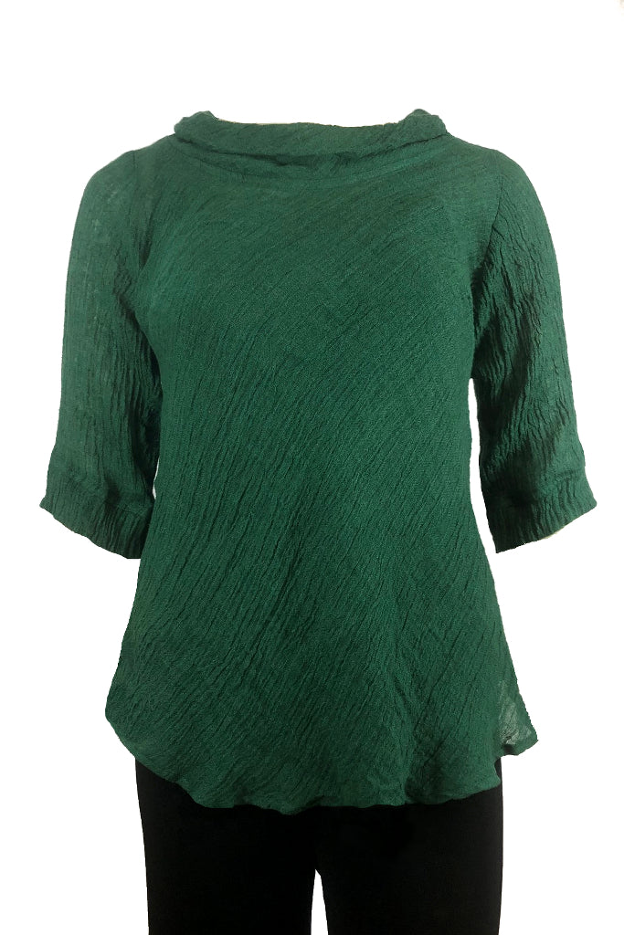plus size green top