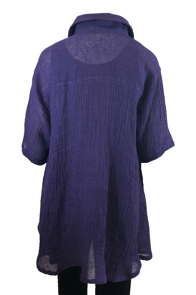 Capri Shirt Purple Linen