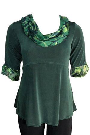 Drape top Green on Green