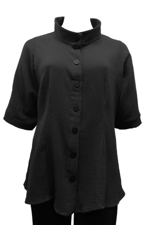 plus size black cotton shirt