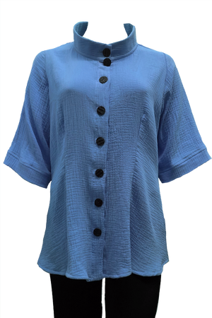 Rodin Shirt: Blue Cotton