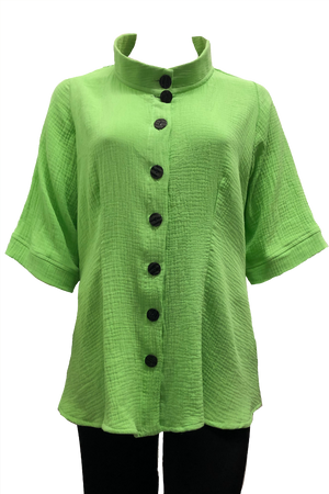 plus size green cotton shirt