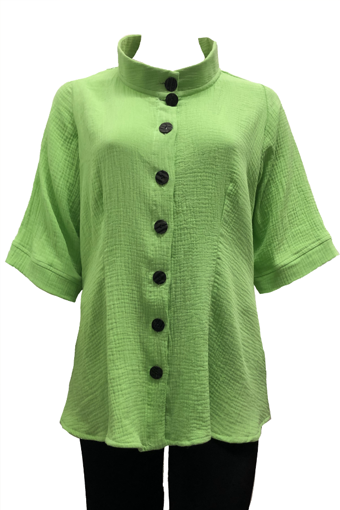 Rodin Shirt: Lime Cotton