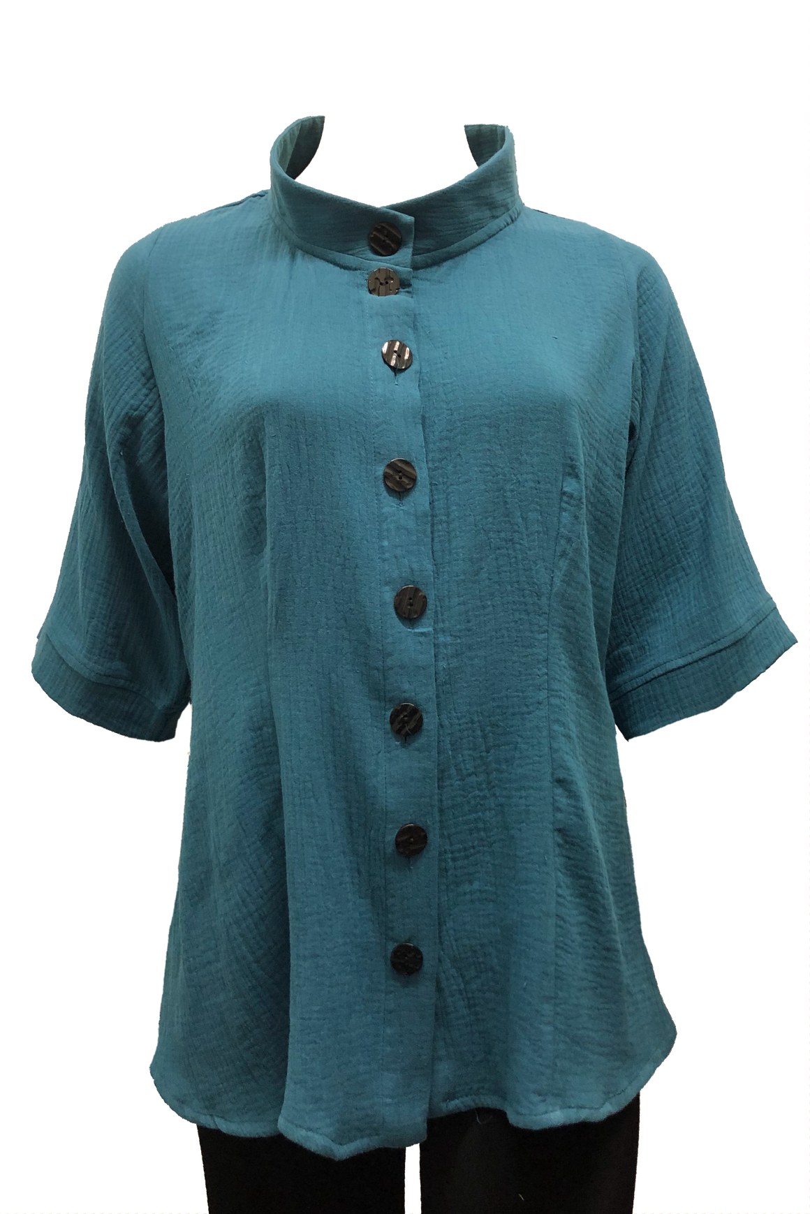 Rodin Shirt: Teal Cotton