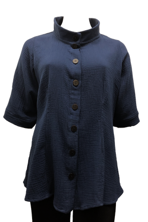 plus size navy shirt