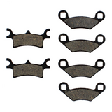Front  Rear Semi-Metallic Brake Pads Polaris Sportsman 600 2003-2005