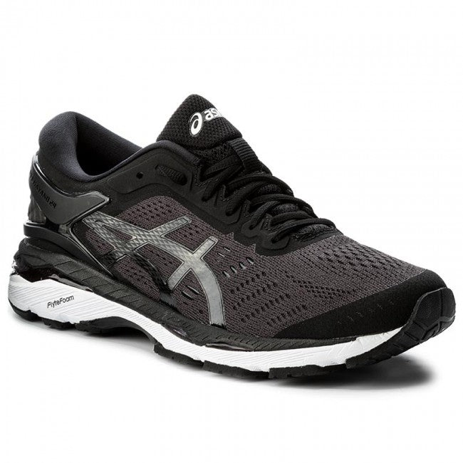 Asics Men's Gel-Kayano 24 Running Shoes in Black Phantom/White - ATR Sports