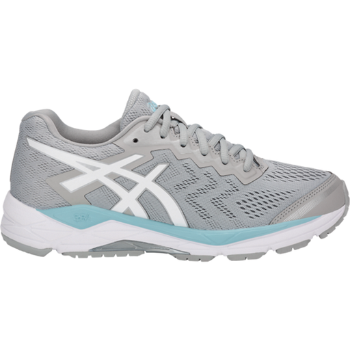 Asics Women's Gel-Fortitude 8 Running Shoes Width D in Mid Grey/White/Porcelain Blue - ATR Sports