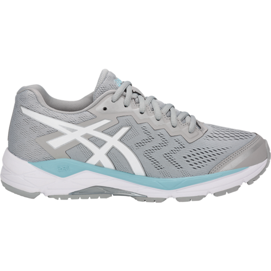 Asics Women's Gel-Fortitude 8 Width D Running Shoes  in Mid Grey/White/Porcelain Blue - atr-sports