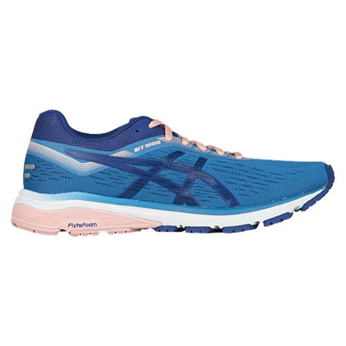 Asics Women's GT 1000-7 Width D Running Shoes in Mid Grey/Flash Coral - atr-sports