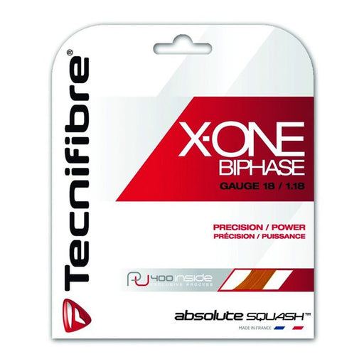 Tecnifibre X-One Biphase 18 Squash String Orange