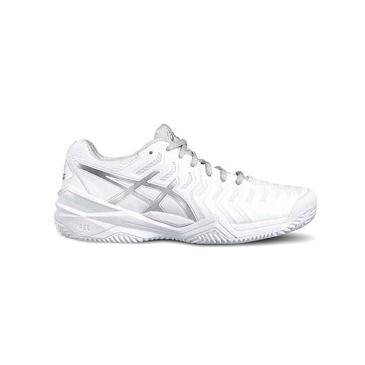 ASICS Women's Gel-Resolution 7 Clay Tennis Shoes in White/Silver - atr-sports