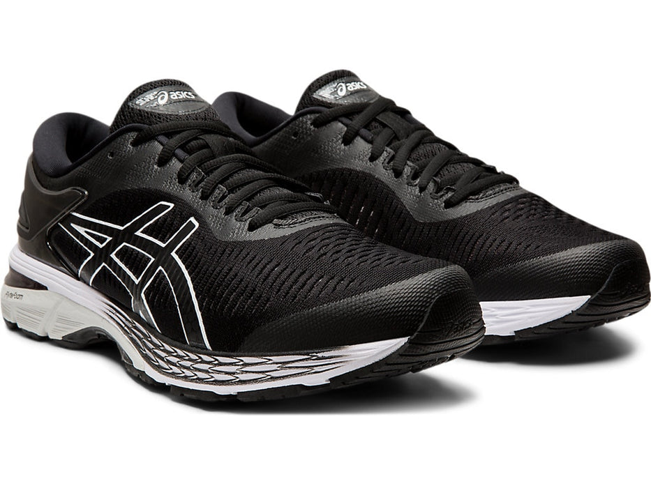Asics Men's GEL-KAYANO 25 (2E) Running Shoes in Black/Glacier Grey - atr-sports