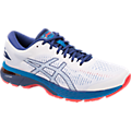 Asics Men's Gel-Kayano 25 Running Shoes in White/Blue Print - ATR Sports