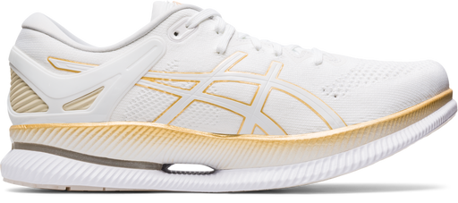 Asics Men's Metaride Running Shoes in White/Pure Gold