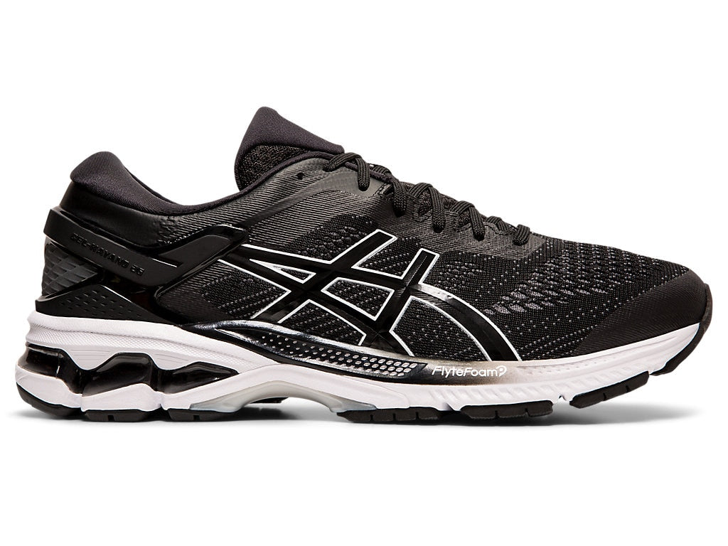 Asics Men's Gel-Kayano 26 Running Shoes in Black/White - atr-sports