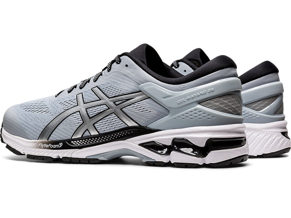 Asics Men's Gel-Kayano 26 Running Shoes in Piedmont Grey/Pure Silver