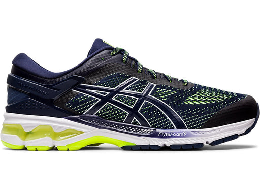 Asics Men's Gel-Kayano 26 Running Shoes in Peacoat/Safety Yellow