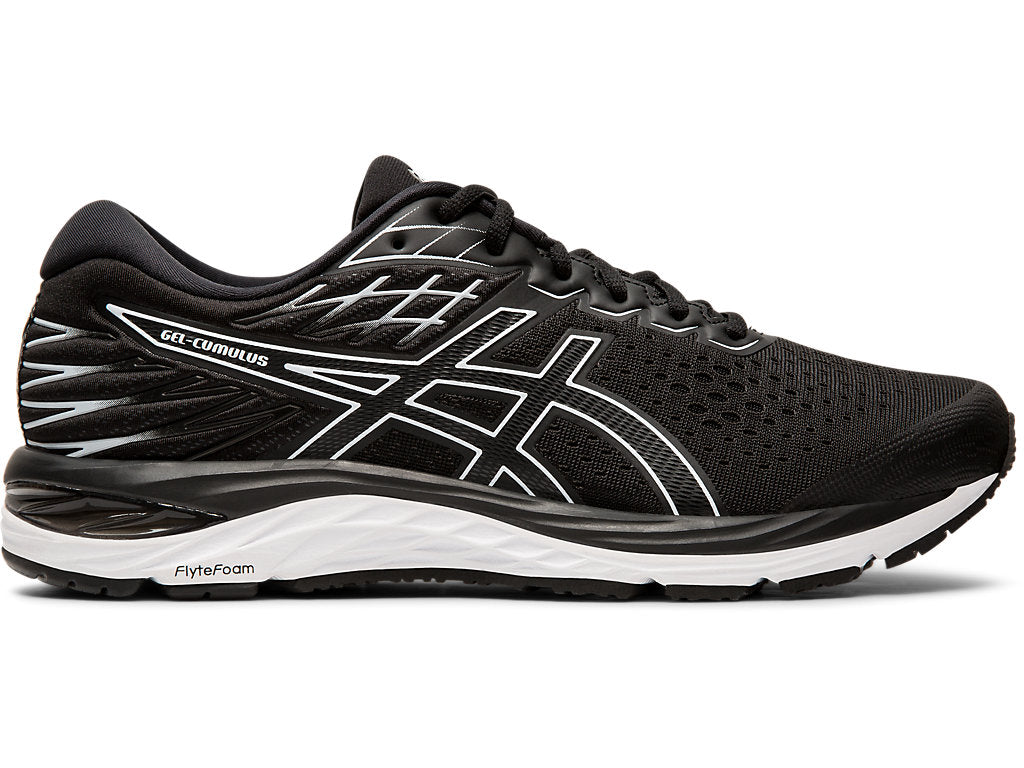 Asics Men's Gel-Cumulus 21 Running Shoes in Black/ White