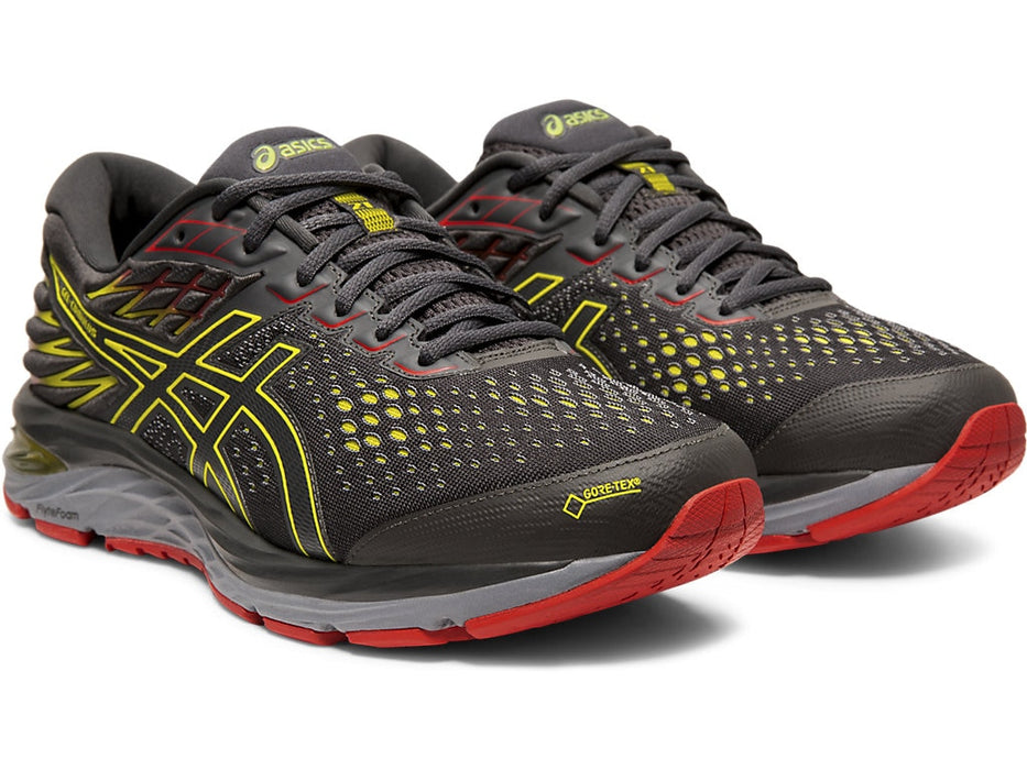 Asics Men's Gel-Cumulus 21 G-TX Running Shoes in Graphite Grey/Sour Yuzu - atr-sports