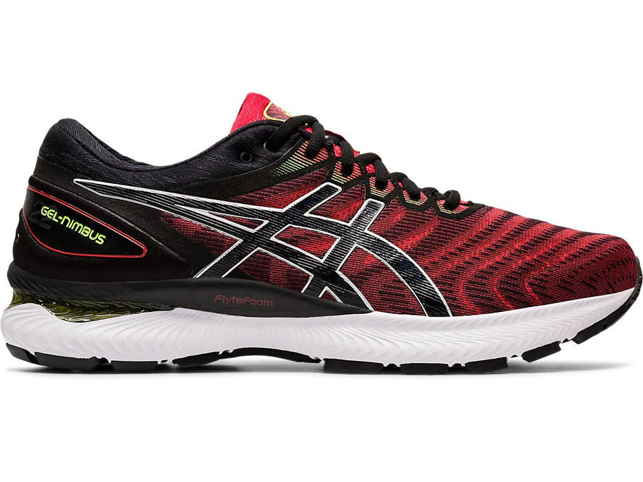 Asics Men's Gel-Nimbus 22 Running Shoes in Classic Red/Black