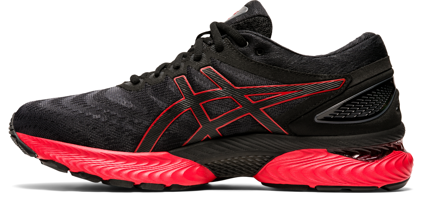 Asics Men's Gel-Nimbus 22 Running Shoes in Black/Classic Red