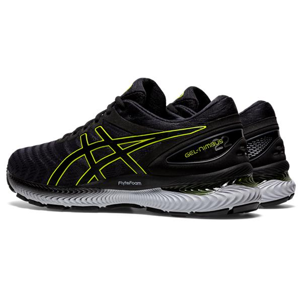 Asics Men's Gel-Nimbus 22 Running Shoes in Carrier Grey/Lime Zest