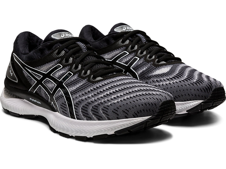 Asics Men's Gel-Nimbus 22 Running Shoes in White/Black
