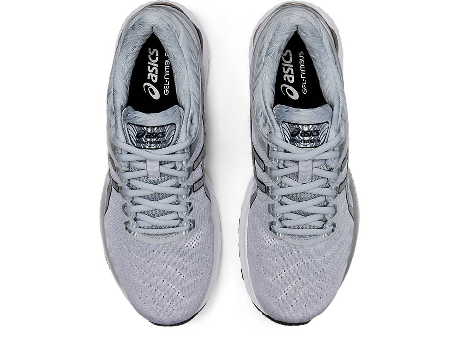Asics Men's Gel-Nimbus 22 Running Shoes in White/Pure Silver