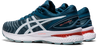 Asics Men's Gel-Nimbus 22 (2E) Wide Width Running Shoes in Light Steel/Magnetic Blue