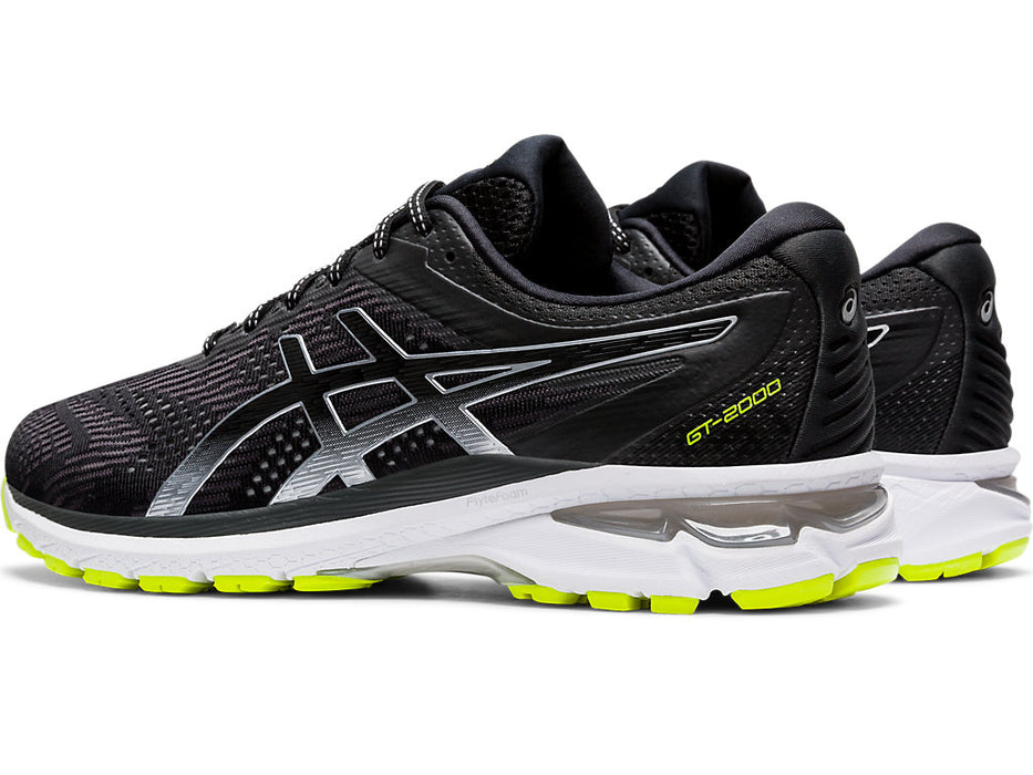Asics Men's GT-2000 8 Lite-Show Running Shoes in Black/Pure Silver