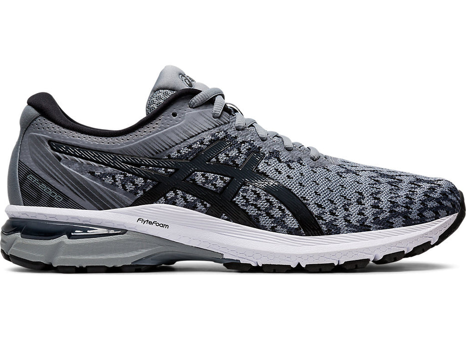Asics Men's GT-2000 8 Knit Running Shoes in Sheet Rock/Black