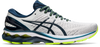 Asics Men's Gel-Kayano 27 Running Shoes in Reborn French Glacier Grey/French Blue