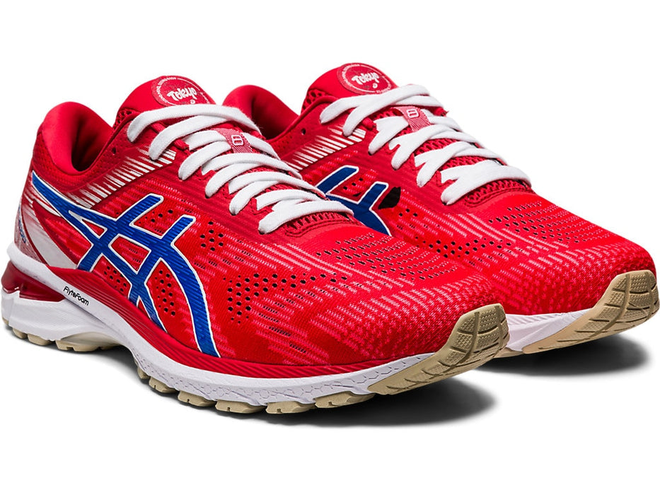 Asics Men's GT-2000 8 Retro Tokyo Running Shoes in Classic Red/Electric Blue