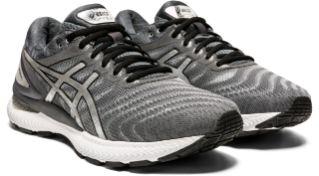 Asics Men's Gel-Nimbus 22 Platinum Running Shoes in Carrier Grey/Pure Silver